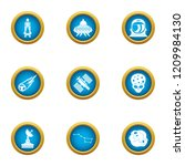 threat from space icons set.... | Shutterstock .eps vector #1209984130