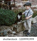 fine art image of an little boy ... | Shutterstock . vector #1209991999