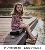 sad crying girl on the... | Shutterstock . vector #1209995386