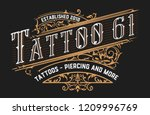 tattoo logo template. old... | Shutterstock .eps vector #1209996769