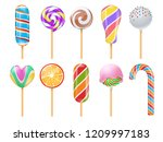 sweet candies  sweets  caramel  ... | Shutterstock .eps vector #1209997183