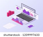 business app isometric concept. ... | Shutterstock .eps vector #1209997633