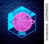 vintage basketball emblem... | Shutterstock .eps vector #1209998293