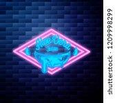 vintage aloe vera emblem... | Shutterstock .eps vector #1209998299