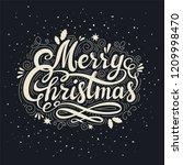 vintage merry christmas... | Shutterstock . vector #1209998470