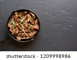 slow cooked pulled beef for...   Shutterstock . vector #1209998986