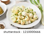 potato salad with eggs and...   Shutterstock . vector #1210000666