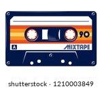 cassette tape retro vintage... | Shutterstock .eps vector #1210003849