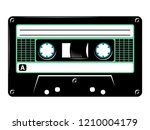 retro vintage cassette tape... | Shutterstock .eps vector #1210004179