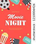 abstract movie night cinema...   Shutterstock .eps vector #1210006426