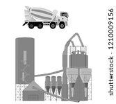 vector illustration. concrete... | Shutterstock .eps vector #1210009156