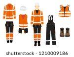 man worker in uniform.... | Shutterstock .eps vector #1210009186