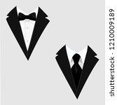 men's jackets. tuxedo. wedding... | Shutterstock .eps vector #1210009189