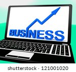 business on notebook showing... | Shutterstock . vector #121001020