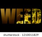 weed logo on black background ... | Shutterstock . vector #1210011829