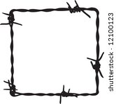 barbwire frame 5 | Shutterstock .eps vector #12100123