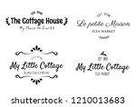 beautiful sweet home decor... | Shutterstock .eps vector #1210013683