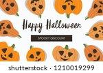 happy halloween advertising... | Shutterstock .eps vector #1210019299