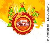 diwali sale banner or poster... | Shutterstock .eps vector #1210020340