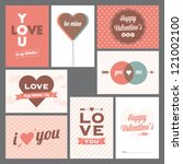 Happy valentines day and weeding cards | Shutterstock vector #121002100