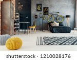 patterned carpet and yellow... | Shutterstock . vector #1210028176