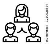 group of people interlinked ... | Shutterstock .eps vector #1210028599