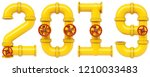 new 2019 year from gas pipes.... | Shutterstock . vector #1210033483