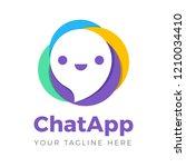 chat talk icon app logo | Shutterstock .eps vector #1210034410