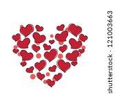 hearts background | Shutterstock .eps vector #121003663