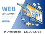 web development  developers... | Shutterstock .eps vector #1210042786
