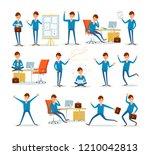 man businessman characters in... | Shutterstock .eps vector #1210042813