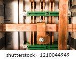 industrial background. copper... | Shutterstock . vector #1210044949