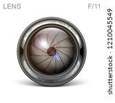 set camera lens object glass...   Shutterstock .eps vector #1210045549