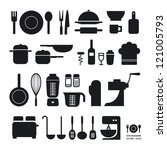 kitchen tool icons collection   ... | Shutterstock .eps vector #121005793