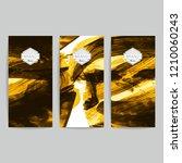 set of vector business card... | Shutterstock .eps vector #1210060243