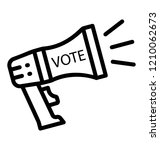 a voting promotion for... | Shutterstock .eps vector #1210062673