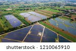 aerial view with solar cell...   Shutterstock . vector #1210065910