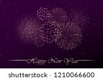 firework show on purple night... | Shutterstock .eps vector #1210066600