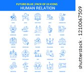 human relation icons   futuro... | Shutterstock .eps vector #1210067509