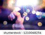 live music background... | Shutterstock . vector #1210068256