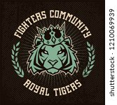 emblem design template with... | Shutterstock .eps vector #1210069939
