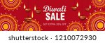 happy diwali sale banner ... | Shutterstock .eps vector #1210072930