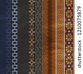 flowers silk scarf design ... | Shutterstock . vector #1210075879