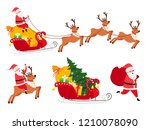 new year icons set  deers and... | Shutterstock .eps vector #1210078090