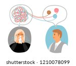 psychotherapy concept... | Shutterstock .eps vector #1210078099