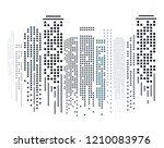 cityscape silhouette in flat...   Shutterstock .eps vector #1210083976