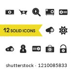 crypto icons set with bitcoin...