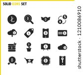 financial icons set with look...