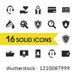 service icons set with like ... | Shutterstock .eps vector #1210087999