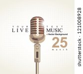 music poster with microphone | Shutterstock .eps vector #121008928
